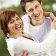 Stock Photo: Happy young couple outdoors