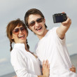 Happy couple taking a selfshoot picture — Stock Photo