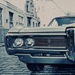 Royalty-Free Stock Photo: Retro car on the street
