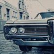 Stock Photo: Retro car on the street