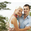 Young couple outdoors — Stock Photo #1422314