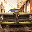 Retro car on the street — Stock fotografie