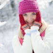 Frozen beautiful woman — Stock Photo #1422399