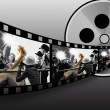 Filmstrip collage - Stock Photo