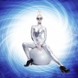 Beautiful cyber woman — Stock Photo #1422406