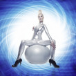 Beautiful cyber woman — Stock Photo #1422420