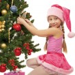 Little santa girl — Stock Photo #1422421
