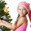 Royalty-Free Stock Photo: Little santa girl