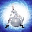 Beautiful cyber woman si — Stock Photo #1422432