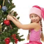 Little santa girl — Stock Photo #1422443
