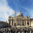 View to the St. Peter's Basilica - Stock Photo