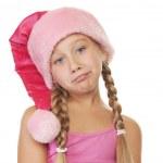 Portrait of a little christmas girl — Stock Photo