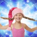 drôle petite fille de Noël — Photo