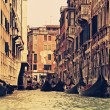 Traditional Venice gondola ride — Photo