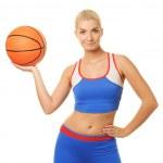 retrato de um jogador de basquete — Foto Stock