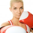 Portrait of a boxer girl — Stock Photo #1423117