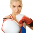 Portrait of a boxer girl — Stock Photo #1423140