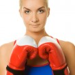 Portrait of a boxer girl — Stock Photo #1423145