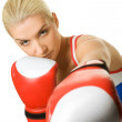 Portrait of a boxer girl — Stock Photo #1423158