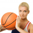 Portrait of a basketball player — Stock Photo #1423162