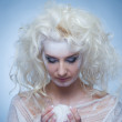 Thinking snow queen — Stock Photo #1423176