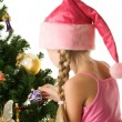 Little santa girl — Stock Photo #1423215