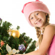Little santa girl — Stock Photo #1423229