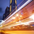 Fast moving bus at night — Stock Photo #1423242