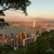 vista da cidade de Hong kong do pico victoria — Foto Stock