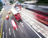 Fast moving bus — Stock Photo