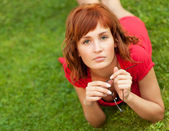 Picture of a young woman outdoors — Stockfoto