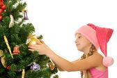 Little santa girl — Foto de Stock