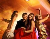 Dancing in the night club — Stock Photo