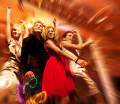 Tanec v nočním klubu — Stock fotografie