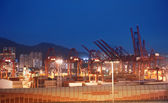 View to the port at night — Stock Photo
