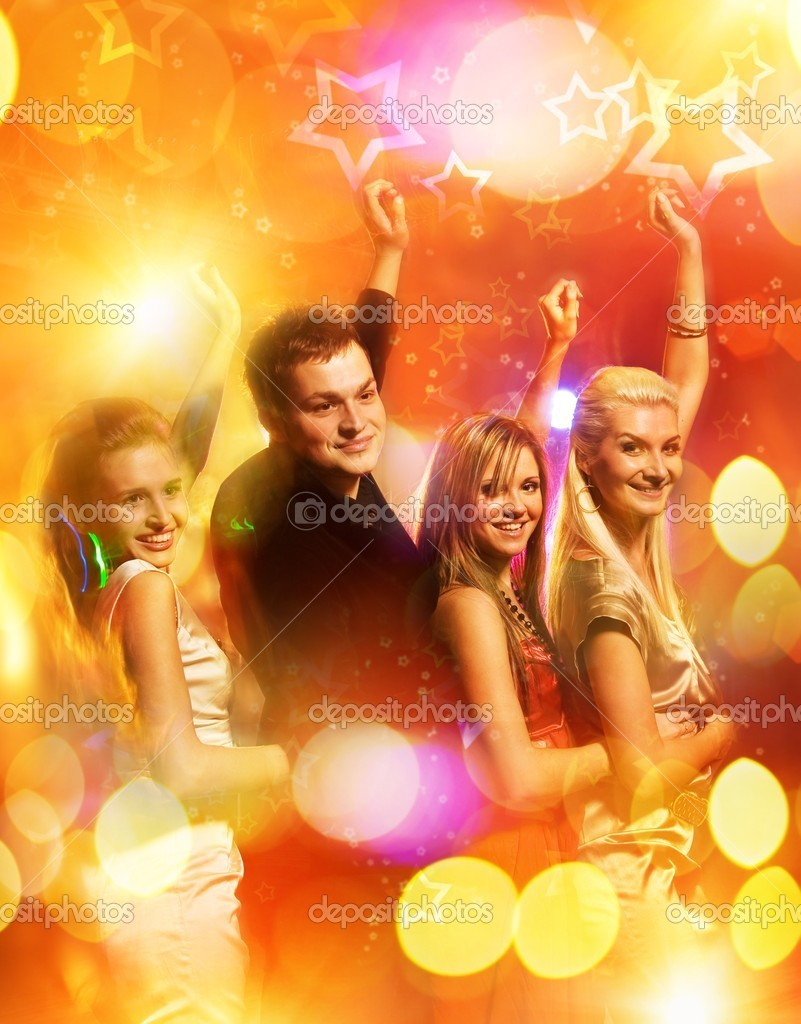 Dancing in the night club — Stock Photo #1420849