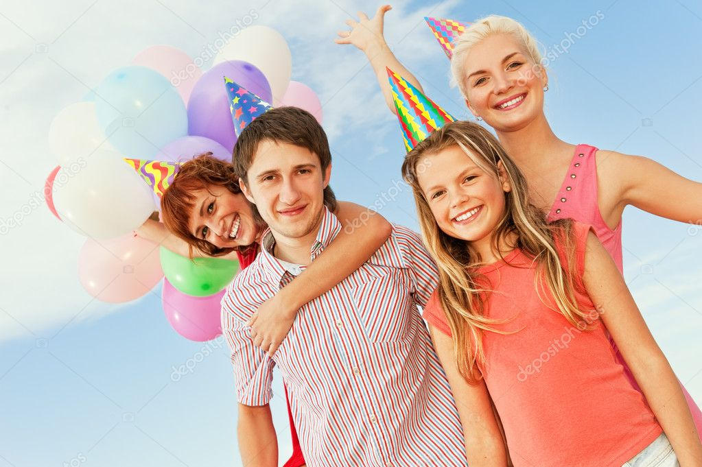 Happy friends — Stock Photo #1420915