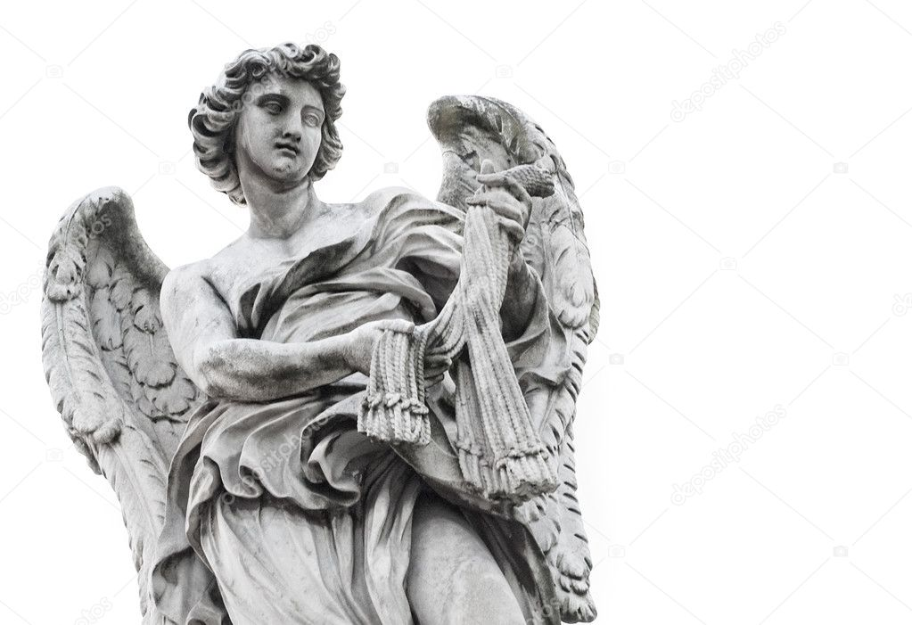 Statue of angel isolated on white background — Stock Photo #1421529