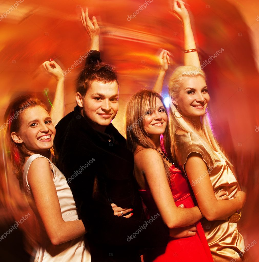 Dancing in the night club — Stock Photo #1423082