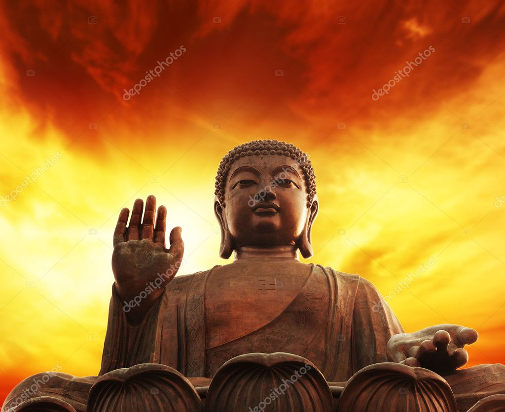 Statue of buddha  Foto de Stock   #1423254