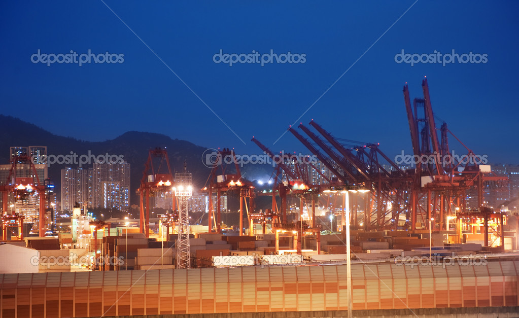 View to the port at night — Stock Photo #1423287
