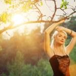 Beautiful woman relaxing outdoors — Stock Photo #1728687