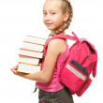 Happy little schoolgirl — Stock Photo #1728874