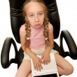 Royalty-Free Stock Photo: Sad young girl with laptop