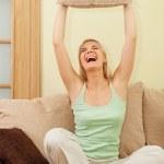 Young woman having fun — Stock Photo #1729744
