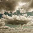 Dark stormy clouds — Stock Photo
