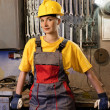 Female factory worker - Stock Photo