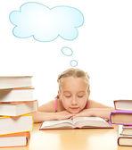 ほとんど女子高生が眠りに落ちる — ストック写真