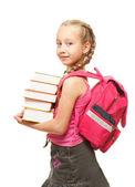 Happy little schoolgirl — Stock Photo