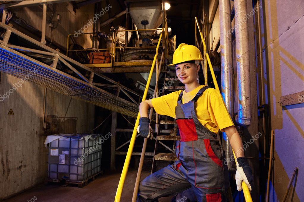 Factory female worker — Stock Photo #1728477